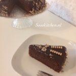 Chocoladetaart van binnen