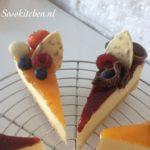 Cheesecake-Kwarktaart-Käsekuchen close up