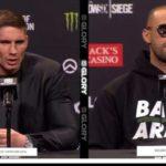 Persconferentie Badr vs Rico