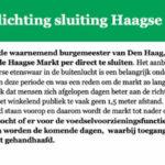 Haagse Markt Gesloten!