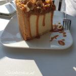 Cheesecake-Käsekuchen Room-Karamel-Hazelnoot