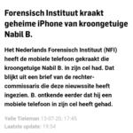 Forensisch Instituut Kraakt Geheime iPhone Van kroongetuige Nabil B.