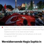 Wereldberoemde Hagia Sophia In Istanboel Wordt Weer Moskee