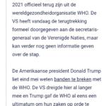 VS Trekt Zich In Juli 2021 Formeel Terug Uit WHO