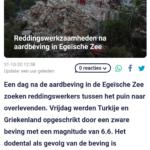 Reddingswerkzaamheden Na Aardbeving In Egeïsche Zee