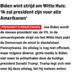 Joe Biden Wordt De Nieuwe President Van De Verenigde Staten