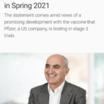 Moncef Slaoui: Americans Could Have COVID-19 Vaccine in Spring 2021