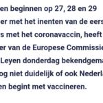EU Begint Eind December Met Vaccineren, Nederland Legt Zich Nog Niet Vast