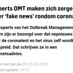 Experts OMT Maken Zich Zorgen Over 'Fake News' Rondom Corona