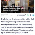 Aanklagers VS: Leden Extreemrechtse Militie Achter Bestorming Capitool