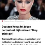 Doutzen Kroes Fel Tegen Coronatest Bij Kinderen: 'Diep Triest Dit'