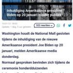 Inhuldiging Amerikaanse President Biden Op 20 januari Zonder Publiek Video