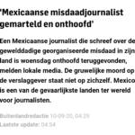 'Mexicaanse Misdaadjournalist Gemarteld En Onthoofd'