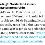 Omtzigt: 'Nederland Is Een Bananenmonarchie'