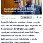 Onno Eichelsheim Wordt De Nieuwe Commandant Der Strijdkrachten