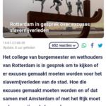 Rotterdam In Gesprek Over Excuses Slavernijverleden