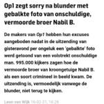 Op1 Zegt Sorry Na Blunder Met Gebalkte Foto Van Onschuldige, Vermoorde Broer Nabil B.