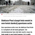 Dakloze Paul Slaapt Hele Week In Een Hotel Dankzij Spontane Actie